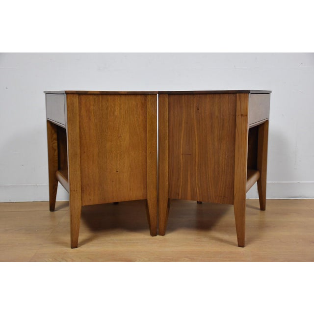 Mid-Century Walnut Nightstands - A Pair - Image 8 of 8