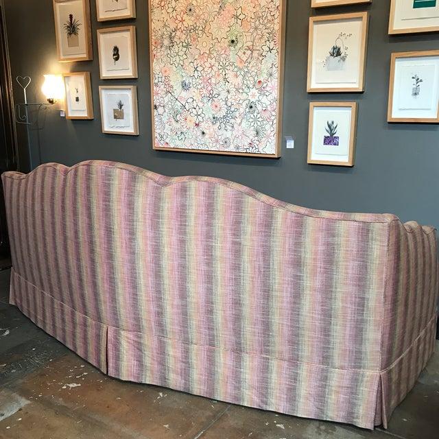 Custom Linen Sofa - Image 4 of 9