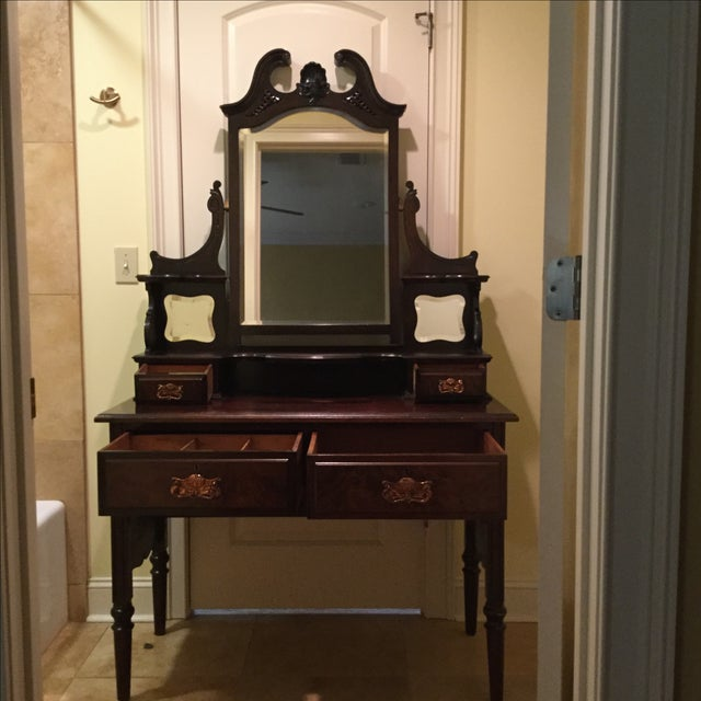 English Traditional Vanity Table - Image 8 of 10