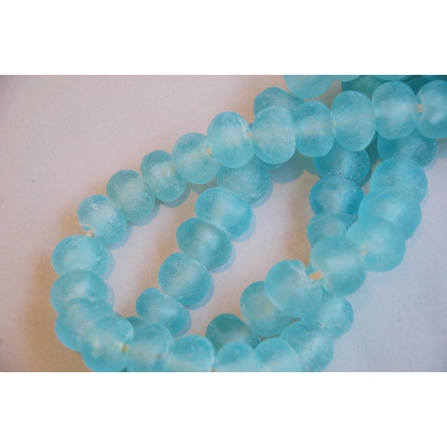 Image of Mediterranean Jumbo Azure Blue Glass Beads - a Pair