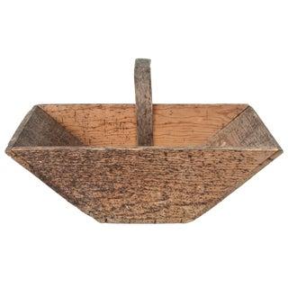 Vintage French Wooden Garden Trug Basket