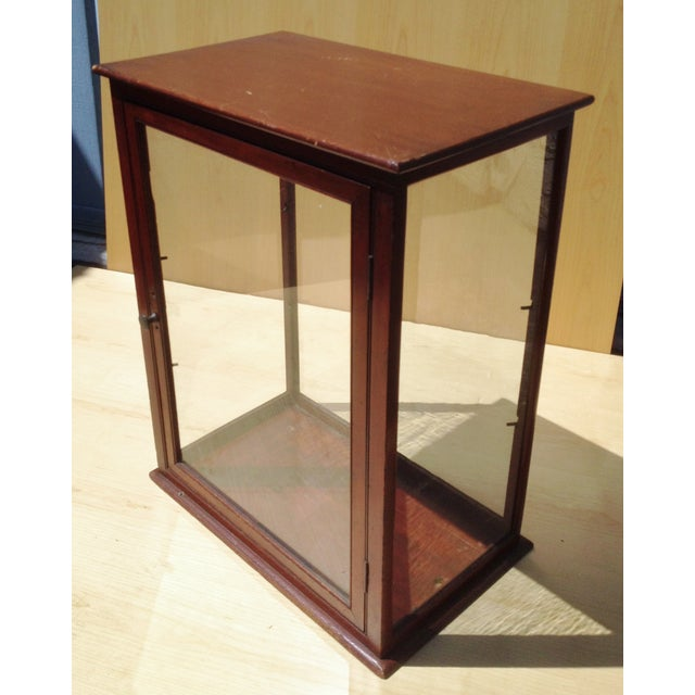 19th C. English Mahogany Counter Top Display Case - Image 5 of 6