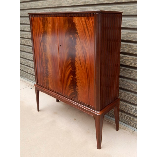 Swedish Moderne Cabinet in Flame Mahogany, 1940's - Image 7 of 10