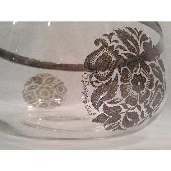 Image of Silvered Crystal Serving Bowl