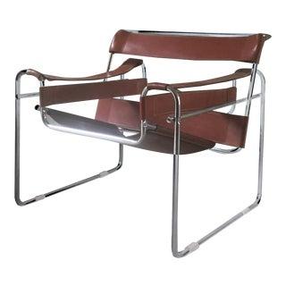 Vintage Marcel Breuer Chrome Leather Armchair