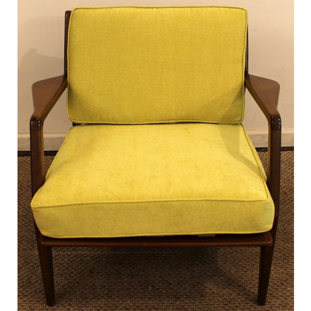 Mid-Century Danish Modern 'Citron' Walnut Open Arm Lounge Chair - Image 3 of 11