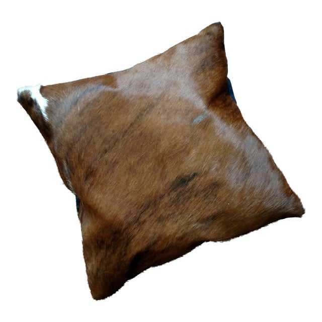 Gambrell Renard Brown Brindle Cowhide Pillow - Image 1 of 3