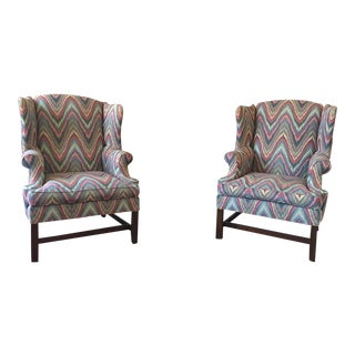 Henredon Wingback Chairs - A Pair