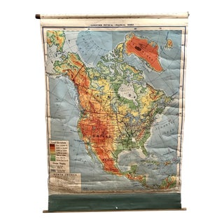 1953 North America Pull Down Map