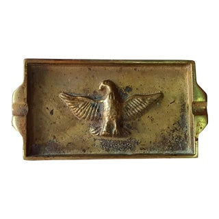 Vintage Brass Eagle Embossed Ashtray