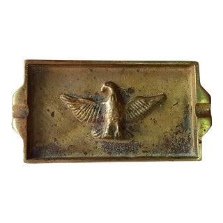 Vintage Brass Eagle Embossed Ashtray