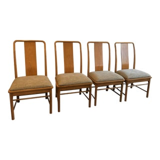 Thomasville Mid-Century Modern Chinese Inspired Dining Side Chairs, Set of 4