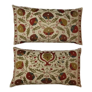Hand Embroidery Suzani Pillows - A Pair