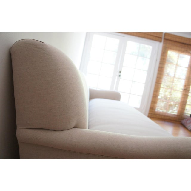 Custom Roll Arm Sofa With Modern Lines - Image 11 of 11