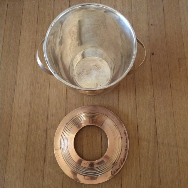 Vintage Art Deco Brass Lidded Ice Bucket - Image 8 of 10