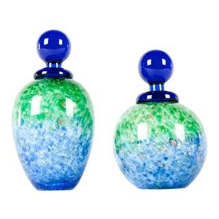 Mid-Century Modern Murano Glass Perfume Bottles - A Pair