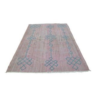 "Turkish Overdyed Pompom Rug - 74"" x 101"""