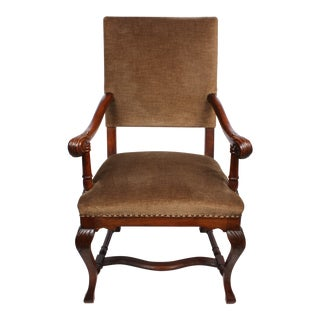 1920s French Queen Anne Style Arm Chair