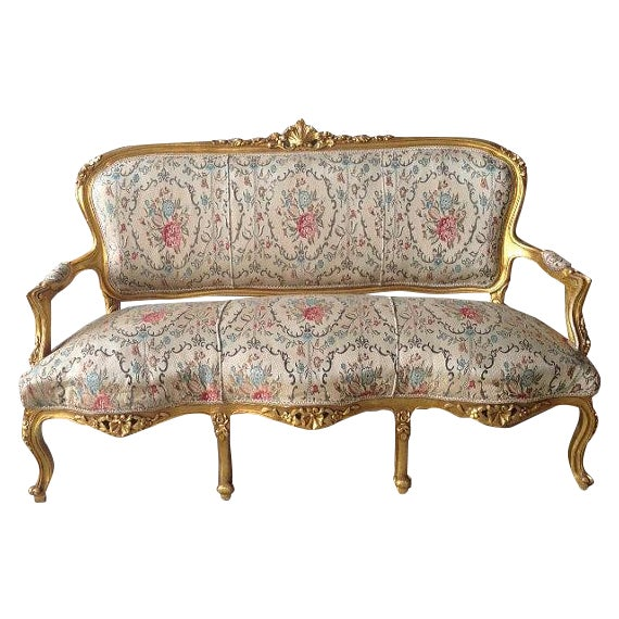 Image of French Sofa in Louis XVI Style