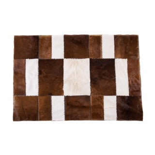"""Aydin Cowhide Patchwork Accent Area Rug - 4'7"""" x 6'7"""""""