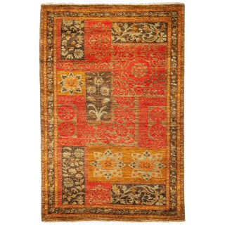 "New Suzani Hand Knotted Area Rug - 3'4"" x 5'3"""