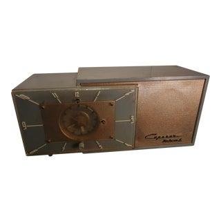 Capehart Deluxe 6 Bakelite 1950s Tube Clock Radio