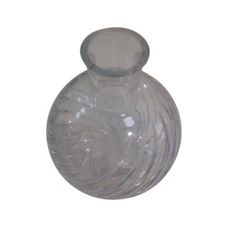 Baccarat Cyclades Crystal Ball Swirl Twist Vase