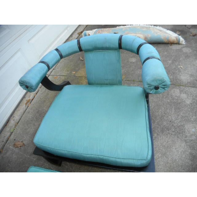 James Mont Style Asian Lounge Chairs - A Pair - Image 11 of 11
