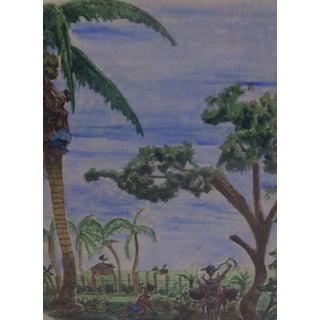 """""""The Caribbean"""" Mixed Media, 1960"""