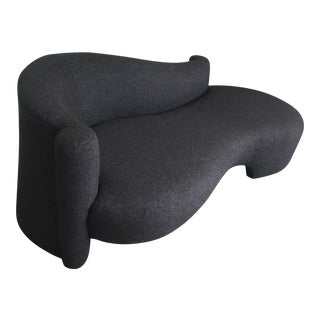 Vladimir Kagan Dark Gray Sofa