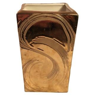 Weeping Gold Planter Vase