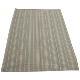 Flat Weave Striped Indian Rug - 10' X 14'