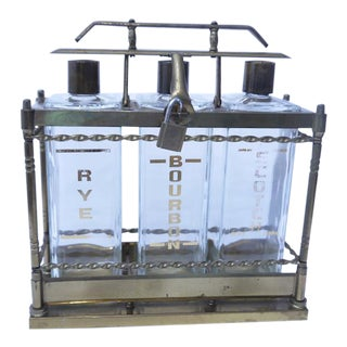 Mid-Century Decanter Brass Set - Set of 3