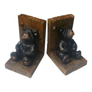 Brown Bear Bookends - A Pair
