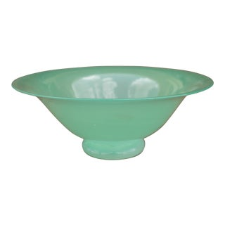 Art Deco Era Pale Jade Art Glass Bowl