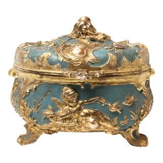 Antique Art Nouveau Jewel Casket Box