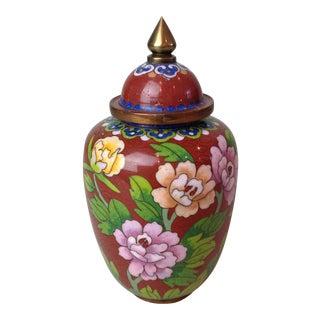Vintage Asian Cloisonne Ginger Jar