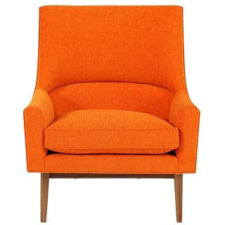 Cedrick Walnut Base Lounge Chair