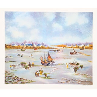 Claude Tabet - Dry Dock Lithograph