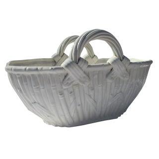 White Porcelain Woven Bamboo Basket