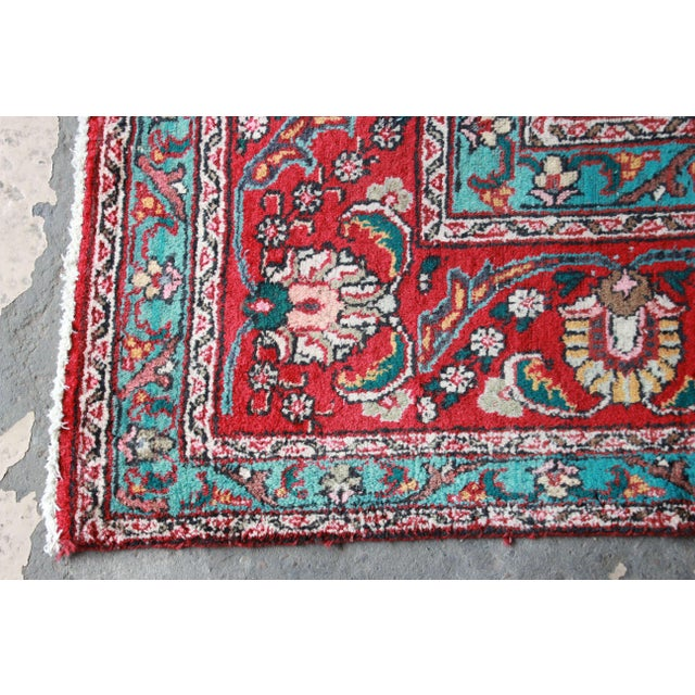 Vintage Hand-Woven Persian Tabriz Rug - 9′10″ × 12′5″ - Image 6 of 8