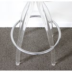Image of Lucite & Wood Bar Stool