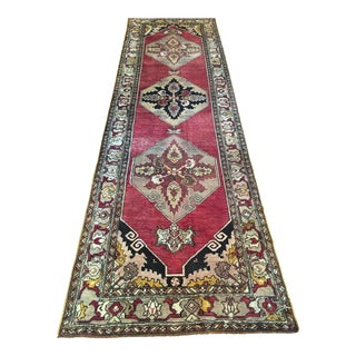 "Antique Anatolian Turkish Kirsehir Rug - 3'4"" x 11'"