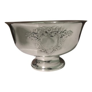 Oneida Court Castle Silverplate Punch Bowl
