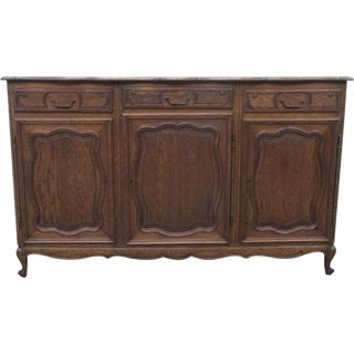 French Country Antique Oak Sideboard Server