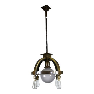 Commercial Ring Fixture with 4 Bare Bulbs + Centre Globe
