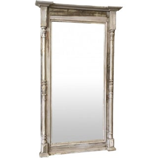 Rustic Painted Antique Floor Mirror Hall Mirror