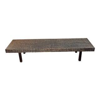 Mid-Century Woven Bench