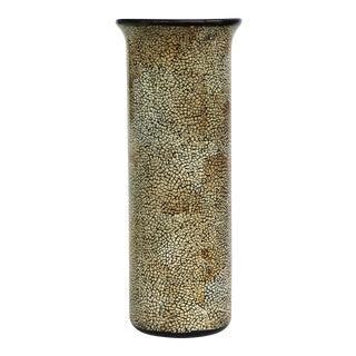 Tall Ceramic Craquelure Style Glaze Vase