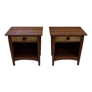 Stickley Cherry Wood Side Tables - A Pair